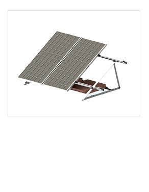 三角水泥地面光伏支架價格太陽能發電系統專用